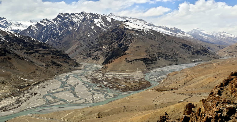 Unison of Pin and Spiti rivers