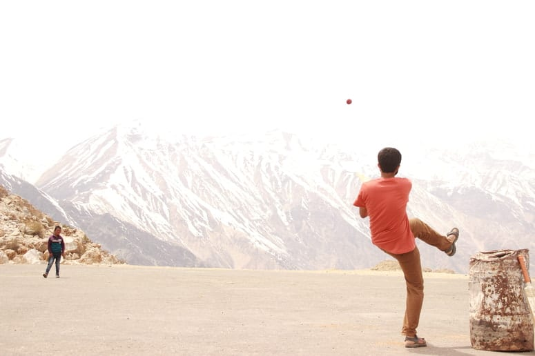 Cricket at 15000 feet in Nako, Spiti Valley